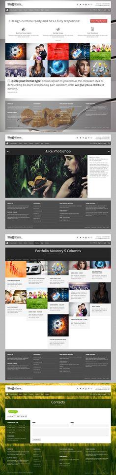 1DesignTheme     Responsive, Full-photo, Portfolio, Wordpress Template     themeforest     http://www.madza-wordpress-premium-themes.com/wp-1design/