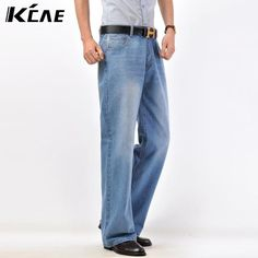 42.49$  Watch now - http://alii9p.shopchina.info/go.php?t=32691862185 - Plus Size 28-40 New arrival 2016 Brand mens flared jeans men's bell bottom denim male horn jean flare pants  #aliexpressideas