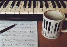 Coffee is gone the song is over Thought I'd something more to say  _  #music #musica #instamusic #composer #composition #coffee #mug #piano #cafe #keyboard #sheetmusic #melody #musicnotes #bass #violin #orchestra #classical #pen #fountainpen #pinkfloyd #musicnotes #instamood #pianist #synth #parker #parkerpen #parkerpens #score #musicscore by ianmblackwell
