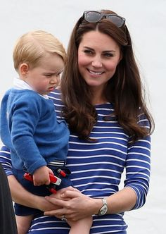 Kate Middleton was all smiles while holding on to Prince George during their…
