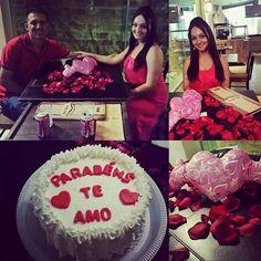 Dia do meu aniversário direito a um belo jantar romântico e muitos presentes!!! Obrigada amor pelo meu primeiro bolo  de aniversário!!! @leandroosilv by mariellediass http://ift.tt/1TRDTIU