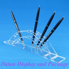 Wholesale High Quality Clear View Acrylic Cosmetic Brush Eyebrow Pencil Pen Display Stand Holder For 12 Pcs
