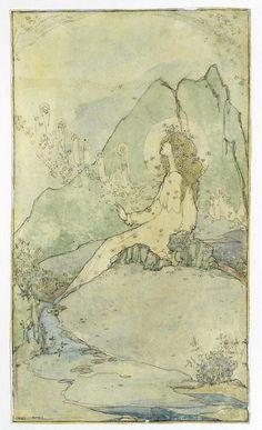 Jessie Marion King    Looking heavenwards. British, 1875-1949