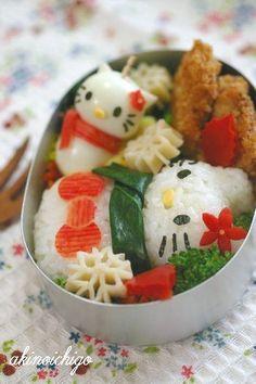 Hello Kitty #Christmas #Snowman #Bento