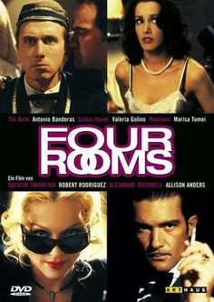 Four Rooms-In the fourth segment, the car on the cover of the magazine that Quentin Tarantino shows to 'Tim Roth' is the same one that John Travolta uses in Pulp Fiction. Quentin Tarantino Films, Film Theory, Four Rooms, Tim Roth, Bruce Willis, Cult Movies, Action Film, Dvd Blu Ray, Great Movies