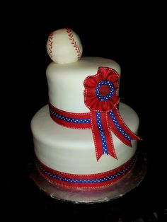 Vintage baseball cake Facebook.com/terrycakessparks