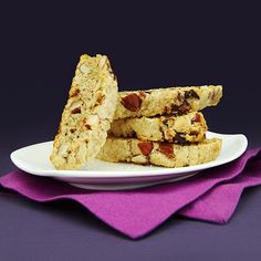 Tosca Reno's Green Tea, Almond & Date Biscotti!   Clean Eating
