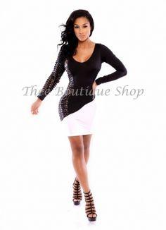 Fashion Long Sleeve Black White New Style Clubwear Dresses Outlet Sale.jpg http://www.lover-fashion.com/2015-New-Clubwear-c552.html