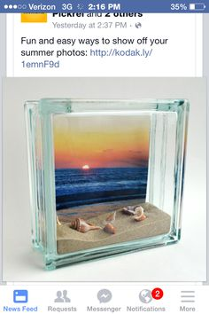 Shadow boxes for vacation mementoes