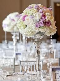 victorian wedding ideas - Floral with ice dripping down!
