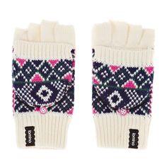 Animal Combloux Gloves - Cream