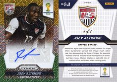 Football Cartophilic Info Exchange: Panini Prizm  Panini - F.I.F.A. World Cup Brasil 2014 Prizm (35) El Samba Signatures (Part I)  It's 7th July 2014 and Panini America have released 57 Yellow and Green Prizm cards onto eBay, all are 1/1. 47 Single Signatures and a complete set of Combo Signatures. Although 50 cards are listed, only 47 have so far been issued. I wonder what happened to the cards of Cristiano Ronaldo, Roberto Carlos and Luis Suarez???