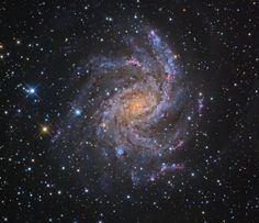 The Fireworks Galaxy, a spiral galaxy in Cepheus and Cygnus.  Image Credit & Copyright: Adam Block/Mount Lemmon SkyCenter/University of Arizona (http://www.caelumobservatory.com/index.html)  The Fireworks Galaxy (NGC 6946, Arp 29, or Caldwell 12) is an intermediate spiral galaxy of 20,000 light-years across, some 10 million light-years away, on the border between the constellations of Cepheus and Cygnus...  Read more: http://annesastronomynews.com/annes-picture-of-the-day-the-fireworks-galaxy/