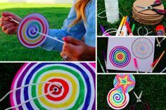 How to make a paper spinner which is lots of fun for kids - Creatistic Easy Paper Crafts, Easy Craft Projects, Diy Crafts For Kids, Projects For Kids, Arts And Crafts, Fun Crafts To Do, Art Projects, Party Unicorn, Paper Spinners