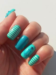 Kiko Kiko Kiko Gina Tricot Shimmer Mint, Sally Hansen I ♥ Nail Art Pen - Turquoise Nail Tape, Sally Hansen, Vinyls, Gin, Turquoise, Nails, Beauty, Tricot, Finger Nails