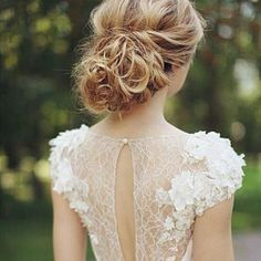 Wedding dress lace back detail