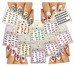 Water Slide Nail Tattoo Decals  Variety Designs For Feminine Nail Art  Blossom Flowers Black Lace  More 10 pack ** Want additional info? Click on the image. Note:It is Affiliate Link to Amazon.