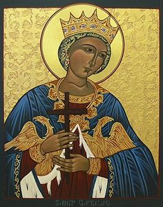 Catherine of Alexandria Ha! It took me all this time to figure out the eagels on her robe are one dikephalos. Religious Images, Religious Icons, Religious Art, Catholic Art, Catholic Saints, St Catherine Of Alexandria, Saint Katherine, Christian Artwork, Religion Catolica