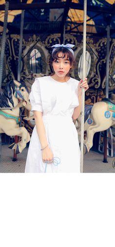 Feminine Long Pintuck Button-Up Dress