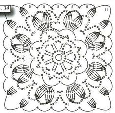 Comments on the topic Crochet Collar Pattern, Crochet Lace Edging, Crochet Blocks, Granny Square Crochet Pattern, Crochet Stitches Patterns, Crochet Diagram, Crochet Chart, Crochet Squares, Crochet Doilies