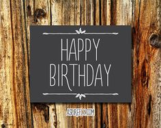 Birthday Card Friend INSTANT DOWNLOAD by AspireflyPrintables