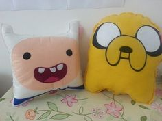 hora-de-aventura:  Handmade Adventure Time Cartoon Jake and Finn Set