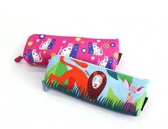 New Pencil Pen Pouch Case Pocket Holder Anna Gili Animal Love School Supplies #Design7321