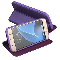 Nouske Samsung Galaxy S7 Flip Wallet Case with Credit: Amazon.co.uk: Electronics