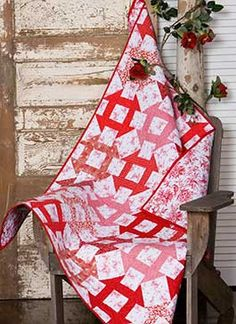 Just a Dash - The Pine Needle's version of a single block Churn Dash quilt pattern.