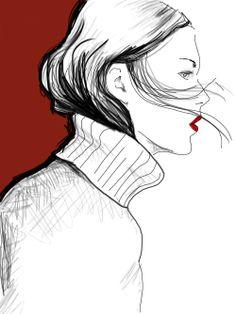 Fashion Illustration on Behance - Monica Ruf