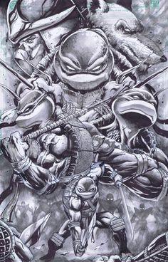 Teenage Mutant Ninja Turtles by Emil Cabaltierra