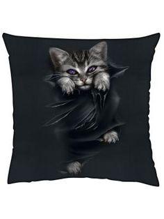 Spiral Bright Eyes Kitten Beach Towel Cute Gothic Cool Gift Purple Eyes Cat