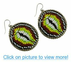 Sow the Seeds African Beaded Dangle Earrings