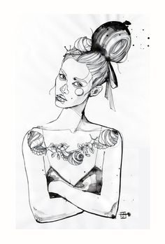 Fashion illustration - chic fashion drawing // Sara Ligari