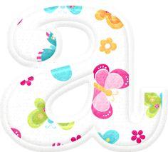 Alfabeto con Bellas Mariposas de Colores.