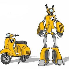 Love this Transformers Vespa print / art #Scooters #MotoLove