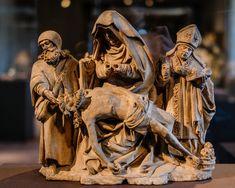Pietà with Saint Nicholas and Saint James the Great, French, Burgundy, ca. St James The Greater, The Cloisters, Saint Nicholas, Saint James, Medieval Art, Illuminated Manuscript, Art Museum, Saints, Sculptures