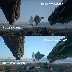 Worth a test at least? Season Game of Thrones. Game Of Thrones Meme, Game Of Thrones Poster, Game Of Thrones Dragons, Got Dragons, House Of Dragons, Game Of Throne Daenerys, I Love Games, Got Memes, Disney Images