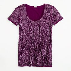 J Crew Factory scoopneck sequin tee