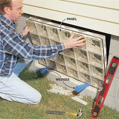 how to install glass block window
