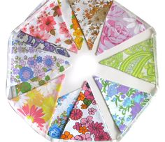 Vintage Retro Pretty MultiColour Floral by MerryGoRoundHANDMADE