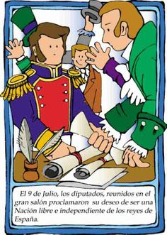 Dibujos Día de la independencia de Argentina | Colorear dibujos infantiles Education, Comics, School, Poster, Fictional Characters, Ideas Jardin, Ideas Para, Blog, Children's Literature