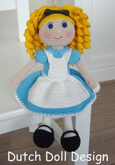 Alice in Wonderland Pattern por DutchDollDesign en Etsy