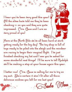 Free letters from santa free personalized printable santa letters free printable letter from santa christmas printable from the printable party shopr after the kids write their letters to put in mailbox for them spiritdancerdesigns Images
