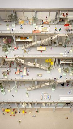 Landscaping Contractors Near Me Social Housing Architecture, Co Housing, Architecture Model Making, School Architecture, Architecture Design, Architecture Diagrams, Architecture Portfolio, Model Site, Landscape Model
