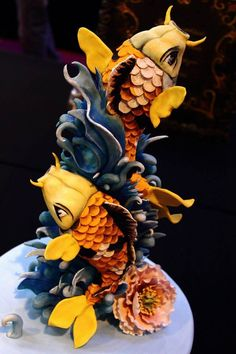 Wow... what an amazing cake! This fine Fishy work of art by Sweet As Sugar Cakes