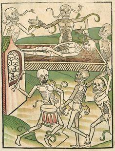 Danza macabra (prima del 1488), Bayerische Staatsbibliothe, Monaco