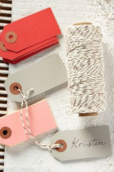 Wrap-Up Twine & Gift Tags | Had to pin this because it says my name haha