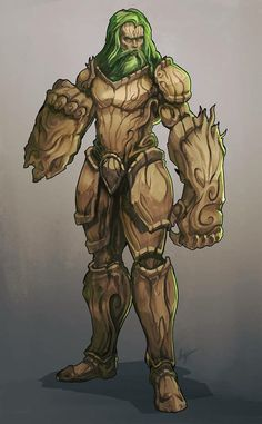 Druid, monk, wood armor