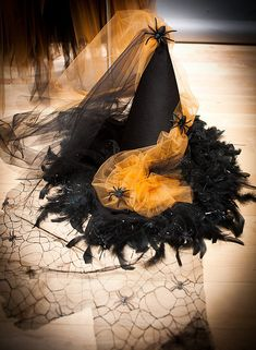 Custom Size Orange and Black Feather Burlesque Corset Witch Halloween Witch Hat, Halloween Diy, Witch Hats, Halloween Costumes, Witch Costumes For Kids, Halloween Stuff, Diy Witch Costume, Rose Costume, Halloween 2018